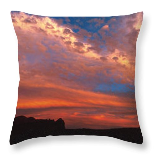 Moab Throw Pillow featuring the photograph Sunset Over The Moab Rim by Dan Norris