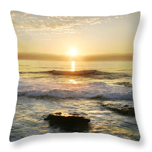 Sunset Throw Pillow featuring the photograph Sunset Over The Ocean by Anthony Jones