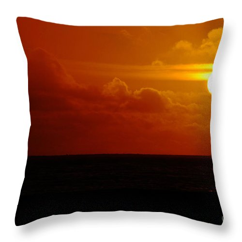 Clay Throw Pillow featuring the photograph Sunset Over The Pacific by Clayton Bruster