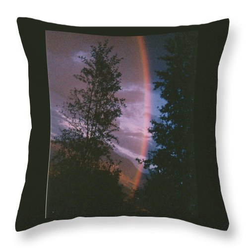 Sunset Throw Pillow featuring the photograph Sunset Rainbow by Dale Jackson