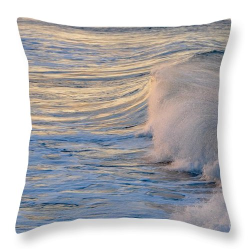 Gold Coast Throw Pillow featuring the photograph Sunset Ribbons by Csilla Florida