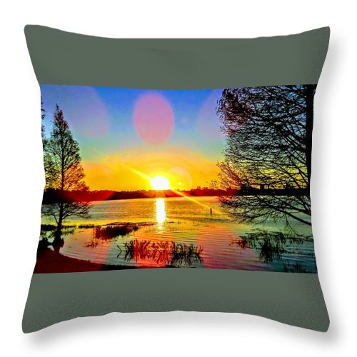 Throw Pillow featuring the photograph Sunset by Shana Rusk