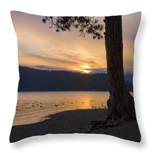 Sunset Throw Pillow featuring the photograph Sunset Silhouette by Idaho Scenic Images Linda Lantzy