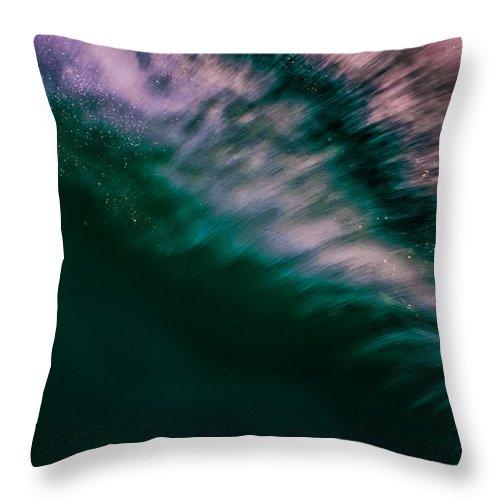 Ocean Throw Pillow featuring the photograph Sunset Splash by JJ Tondo
