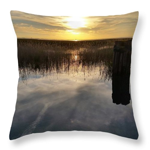 Lake St Clair Throw Pillow featuring the photograph Sunset St Clair by Dawn Stone