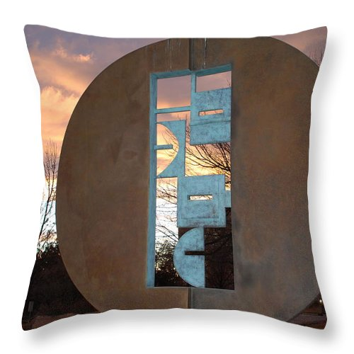 Pop Art Throw Pillow featuring the photograph Sunset Thru Art by Rob Hans