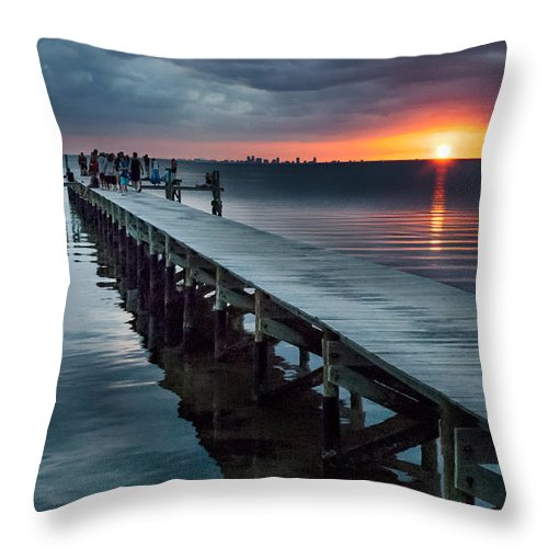 Sunset Throw Pillow featuring the photograph Sunset Watch by Norman Johnson