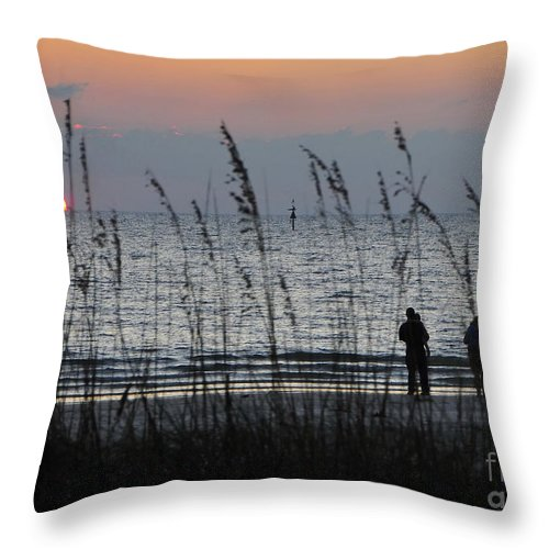 Sunset Throw Pillow featuring the photograph Sunset Watching by David Lee Thompson