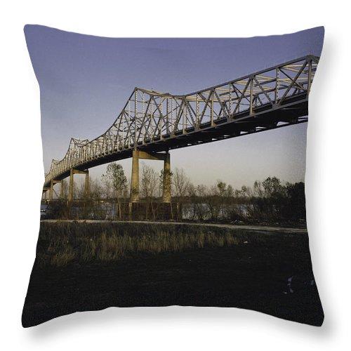 Bridge Throw Pillow featuring the photograph Sunshine Bridge by Herman Robert