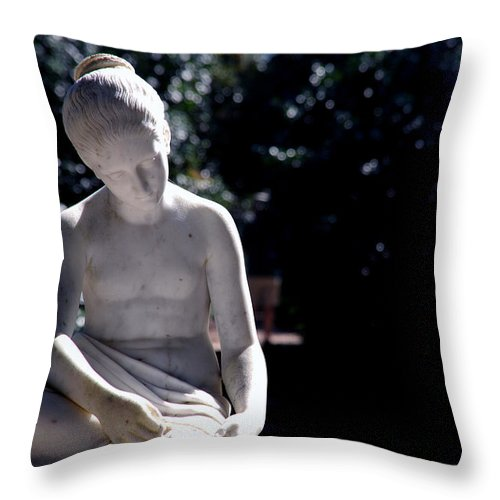 Sculpture Throw Pillow featuring the photograph Sunshine On My Shoulders by Susanne Van Hulst