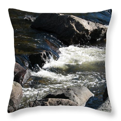 Waterfall Throw Pillow featuring the photograph Sunshine On The Fall by Kelly Mezzapelle