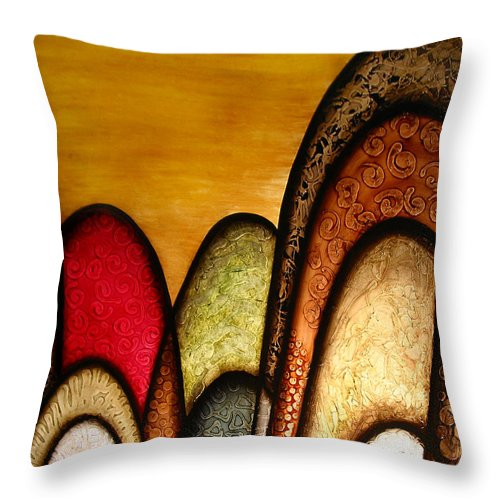 Abstract Art Throw Pillow featuring the painting Sunshiny Day by Jill English