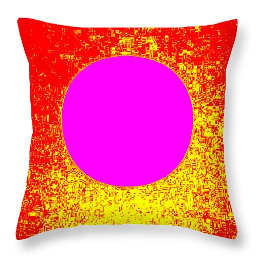 Square Throw Pillow featuring the digital art Suntrail by Eikoni Images