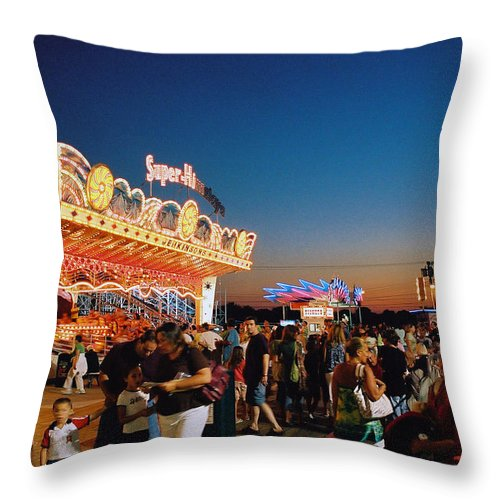 Board Walk Throw Pillow featuring the photograph Super Himalaya by Steve Karol
