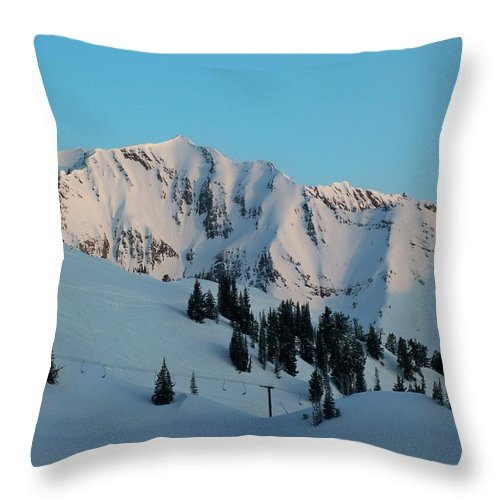 Ski Throw Pillow featuring the photograph Superior Sunrise by Michael Cuozzo