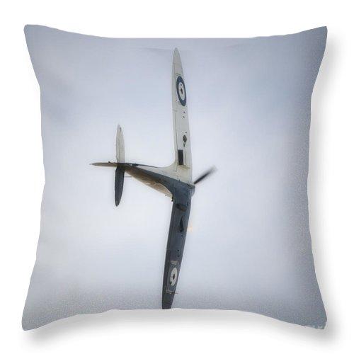 Spitfire Throw Pillow featuring the digital art Supermarine Spitfire Mk1 by Nigel Bangert