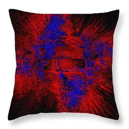 Abstract Throw Pillow featuring the digital art Supernova by Charmaine Zoe