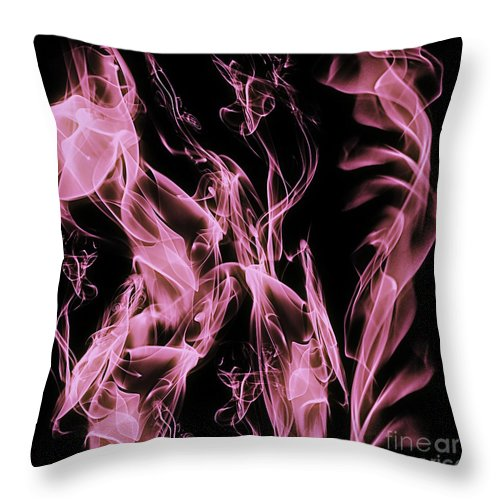 Clay Throw Pillow featuring the digital art Support The Cure by Clayton Bruster