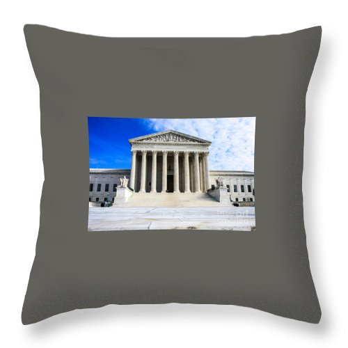 Washington Dc Dec 1 Throw Pillow featuring the photograph Supreme Court by William Rogers