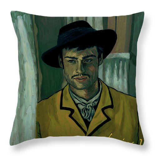 Throw Pillow featuring the painting Sure by Elizabeth Hristova - Lisa