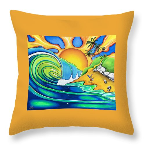Surf Throw Pillow featuring the painting Surf Dude by Luke Walker