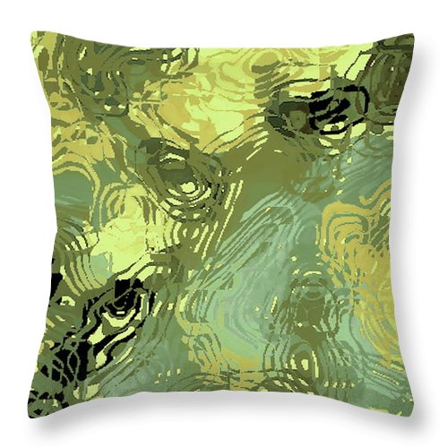 Digital Altered Photo Throw Pillow featuring the digital art Surface Of An Ohio Creek by Tim Richards