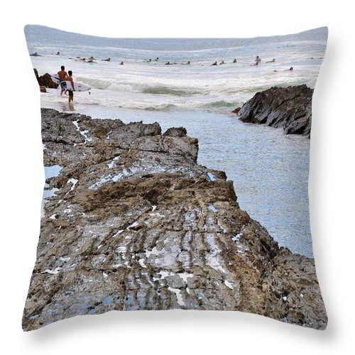 Gold Coast Throw Pillow featuring the photograph Surfers Waterways by Csilla Florida