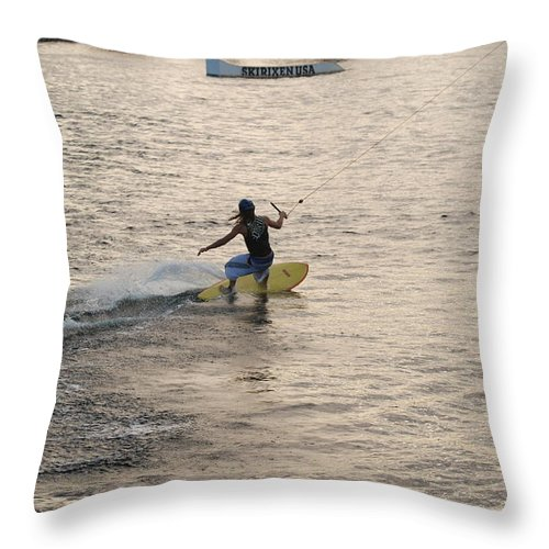 Sun Throw Pillow featuring the photograph Surfing by Rob Hans