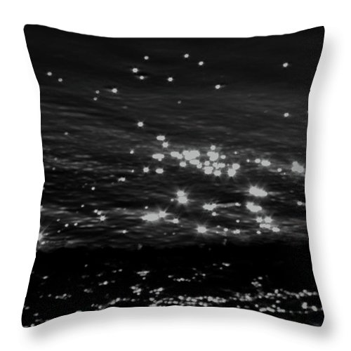 Waves Throw Pillow featuring the photograph Surfing The Cosmos by Catherine Sprague