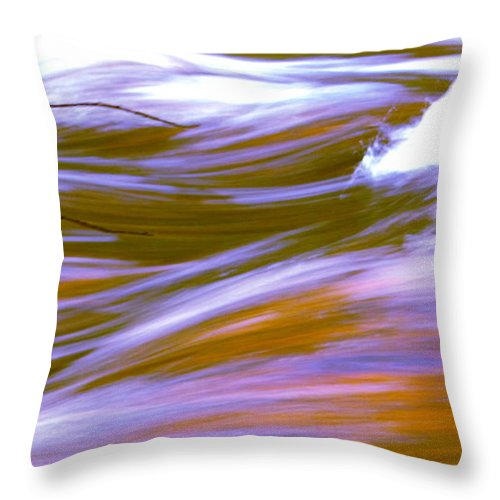 Water Throw Pillow featuring the photograph Surging Currents by Sybil Staples