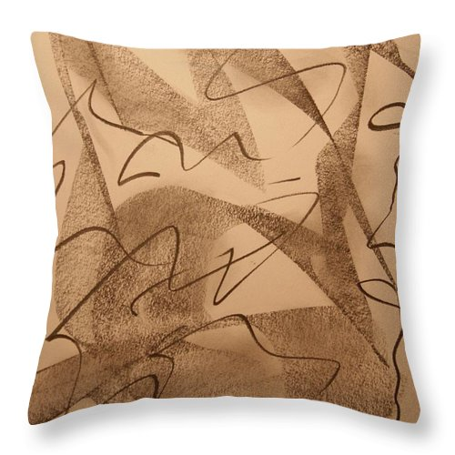 Abstract Throw Pillow featuring the drawing Surpassed Time by David Barnicoat