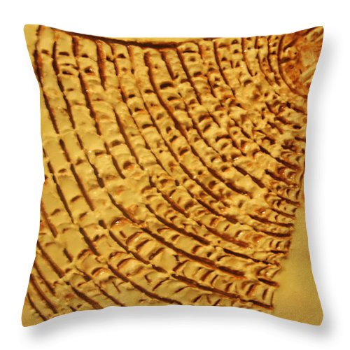 Jesus Throw Pillow featuring the ceramic art Surprise - Tile by Gloria Ssali
