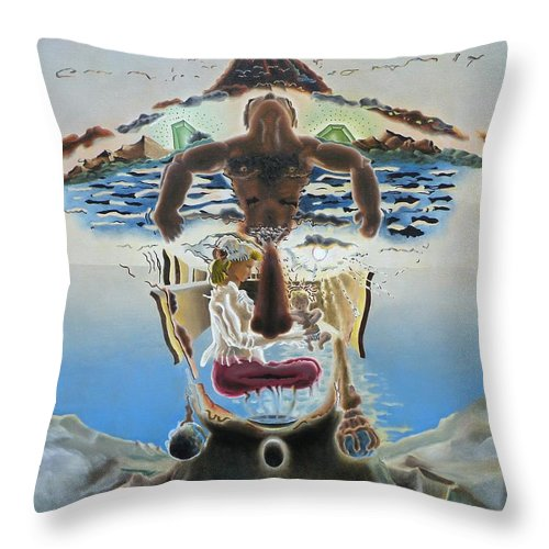 Surreal Throw Pillow featuring the painting Surreal Memories by Dave Martsolf
