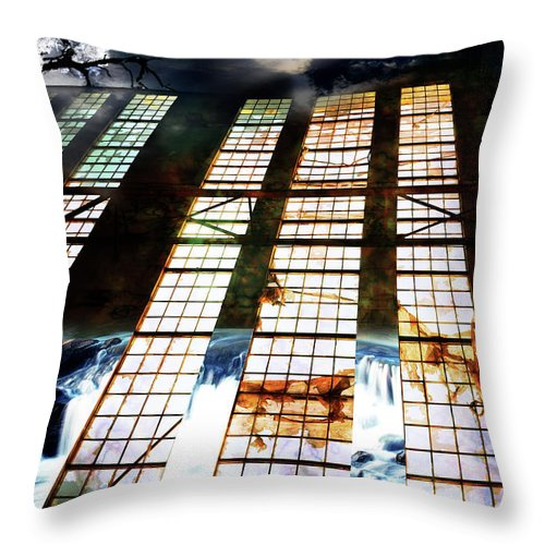 Surreal Throw Pillow featuring the digital art Surreal Nightscape by Phill Petrovic