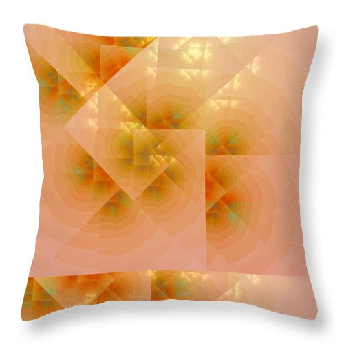 Fractal Throw Pillow featuring the digital art Surreal Skylight by Richard Ortolano
