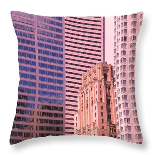 Office Buildings Throw Pillow featuring the photograph Surrounded by Ian MacDonald