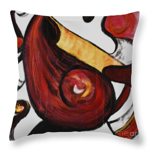 Survivor Throw Pillow featuring the painting Survivor by Nadine Rippelmeyer