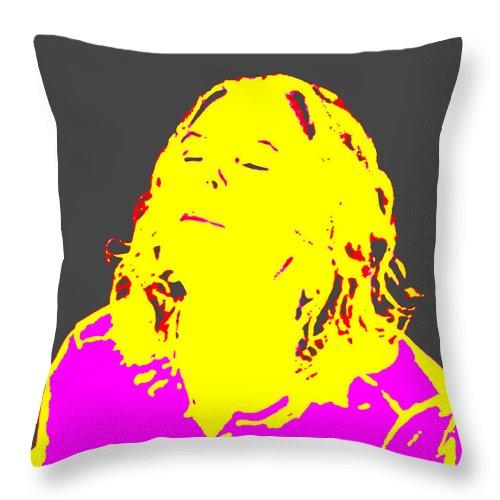 Square Throw Pillow featuring the digital art Surya Namaskar by Eikoni Images