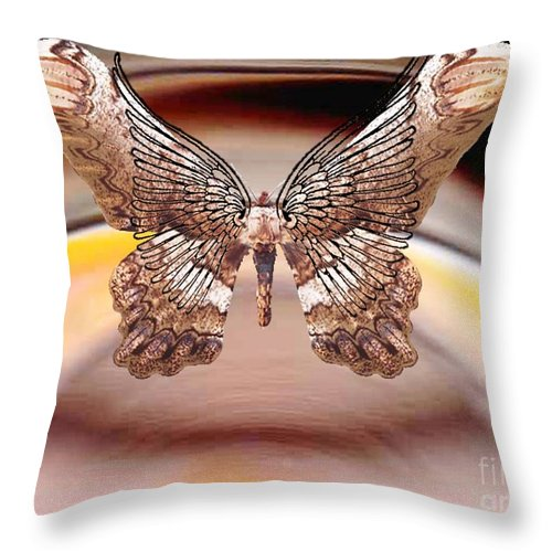 Insect Throw Pillow featuring the digital art Suspension by Belinda Threeths