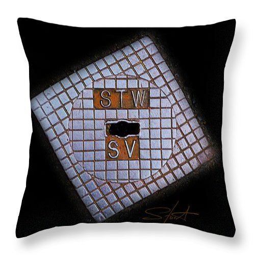 Diamond Throw Pillow featuring the photograph SV by Charles Stuart
