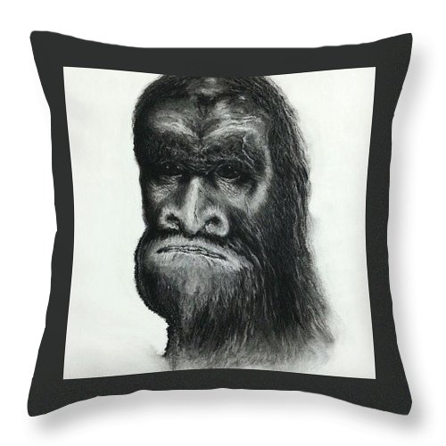 Skunkape Throw Pillow featuring the digital art Skunkape by Clint Quintero
