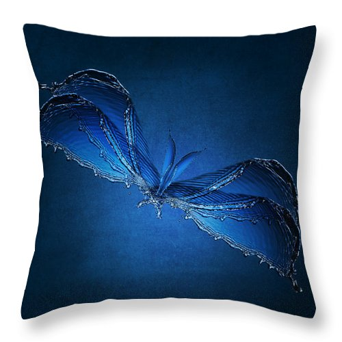Water Throw Pillow featuring the photograph Swamp Creature by Kathy Place