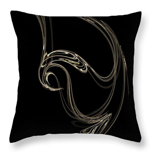 Fractals Throw Pillow featuring the digital art Swan Dance by Richard Rizzo