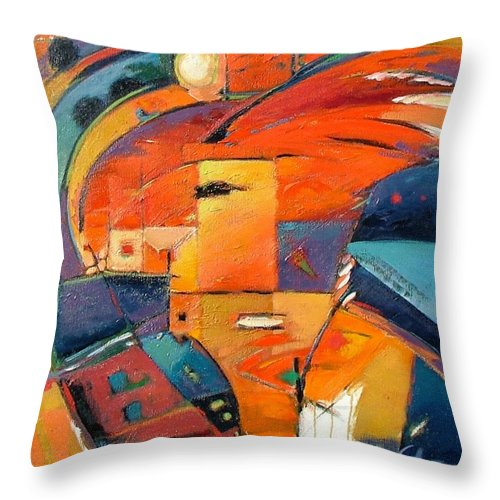 Aabstract Painting Throw Pillow featuring the painting Swaying by Gary Coleman