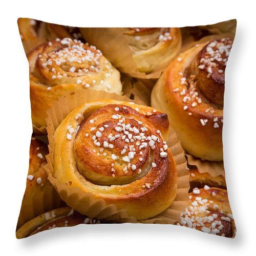 Europe Throw Pillow featuring the photograph Swedish Cinnamon Rolls by Inge Johnsson