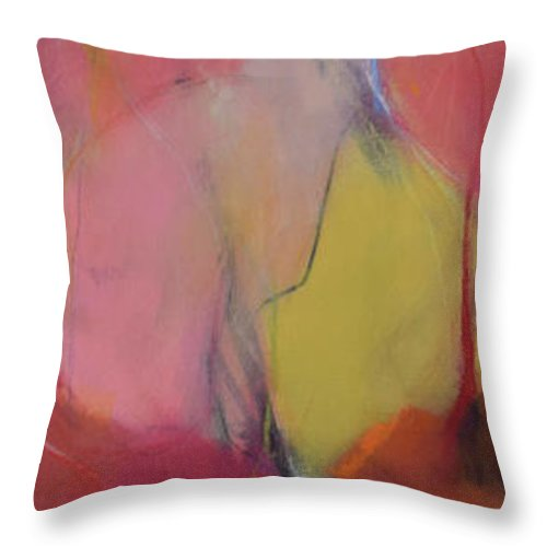 Sweet Throw Pillow featuring the painting Sweet by Christina Hibbard