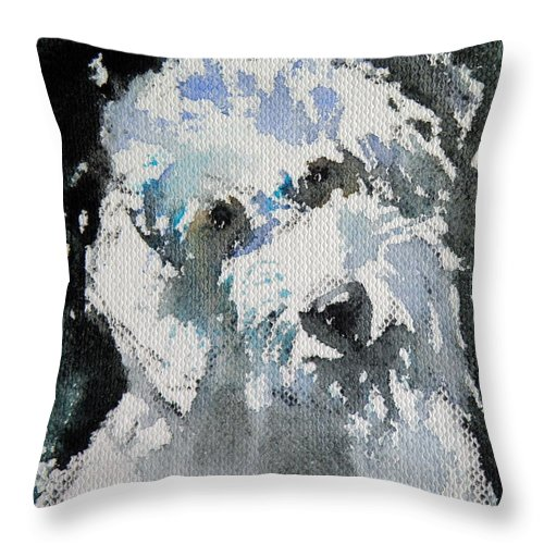 Dog Throw Pillow featuring the painting Sweet Dog by Kovacs Anna Brigitta