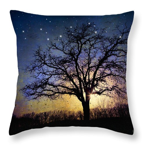 Landscape Throw Pillow featuring the photograph Sweet Dreams by Iris Greenwell