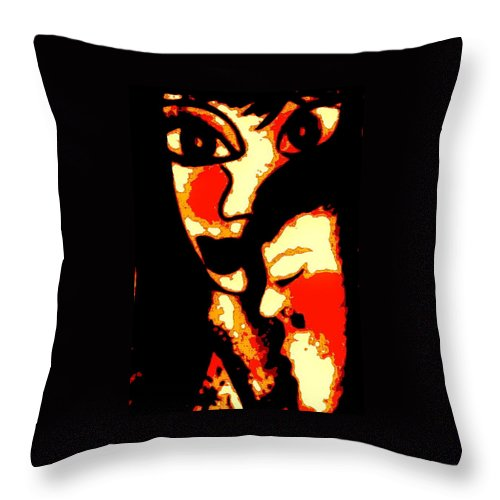 Figurative Throw Pillow featuring the painting Sweet Embrace by Natalie Holland