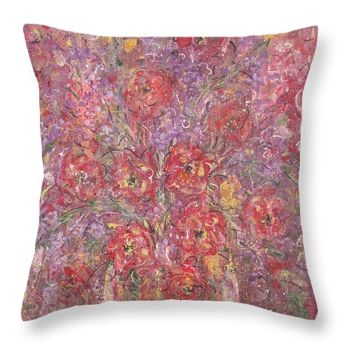 Still Life Throw Pillow featuring the painting Sweet Memories by Natalie Holland